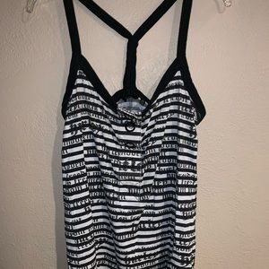 Hurley Black and White Tank Top